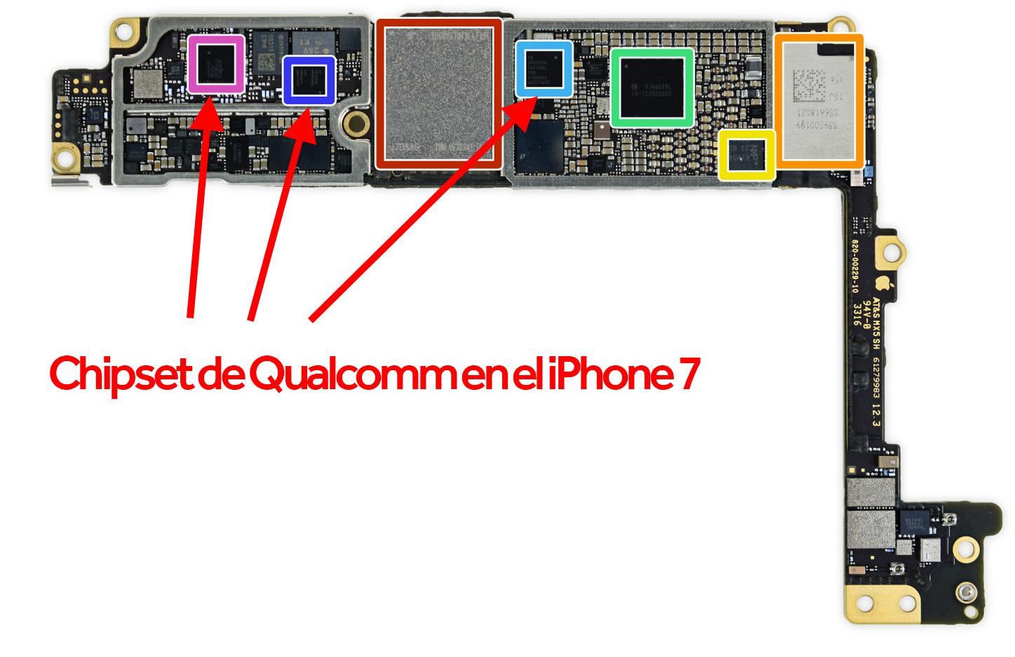 Chips de Qualcomm en el iPhone 7