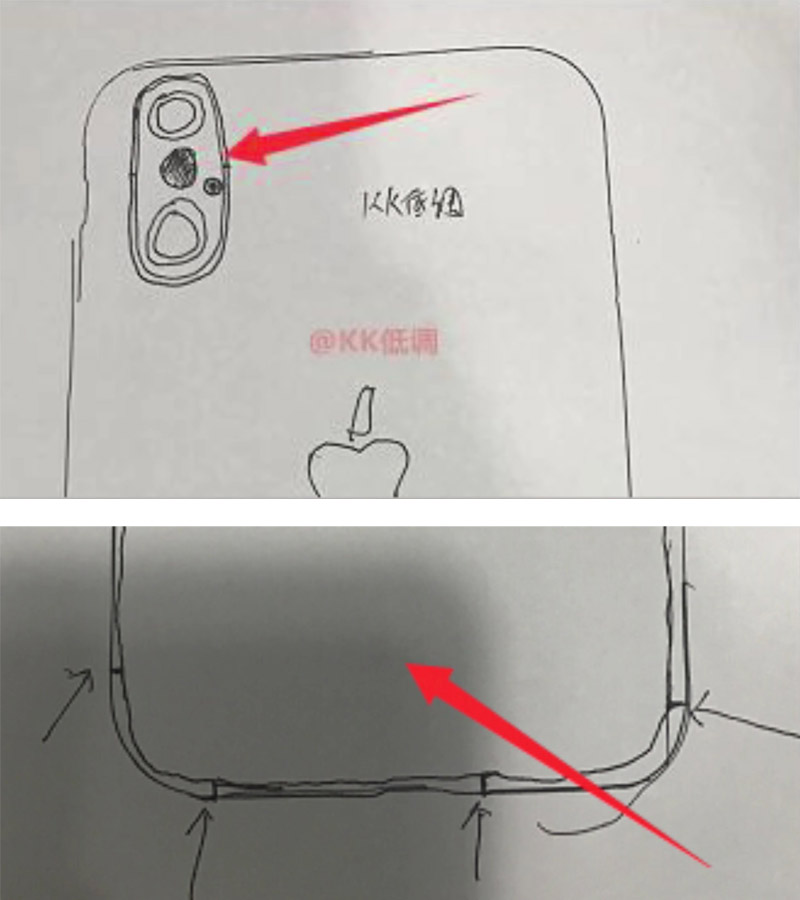 Boceto de cómo podría ser un iPhone 8