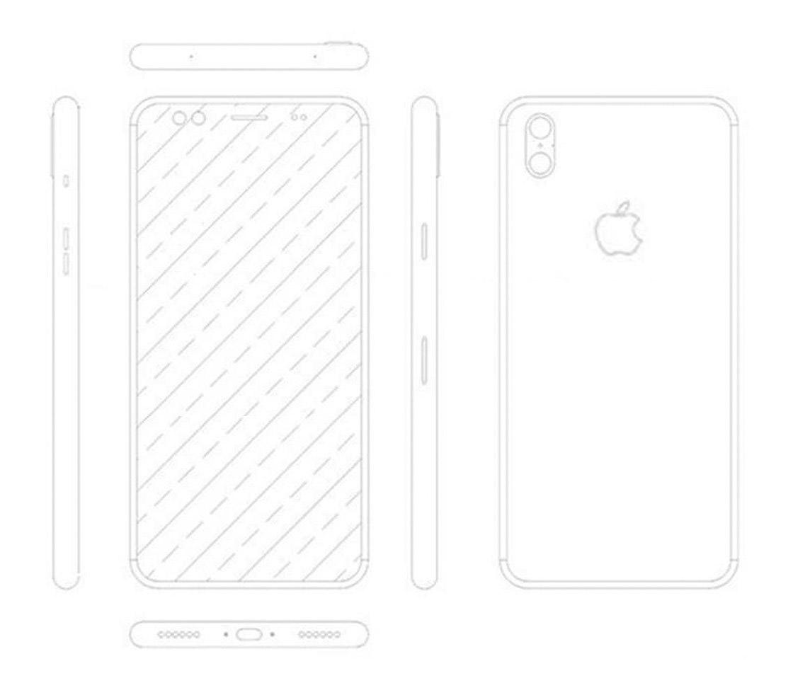 Supuesto esquema del iPhone 8