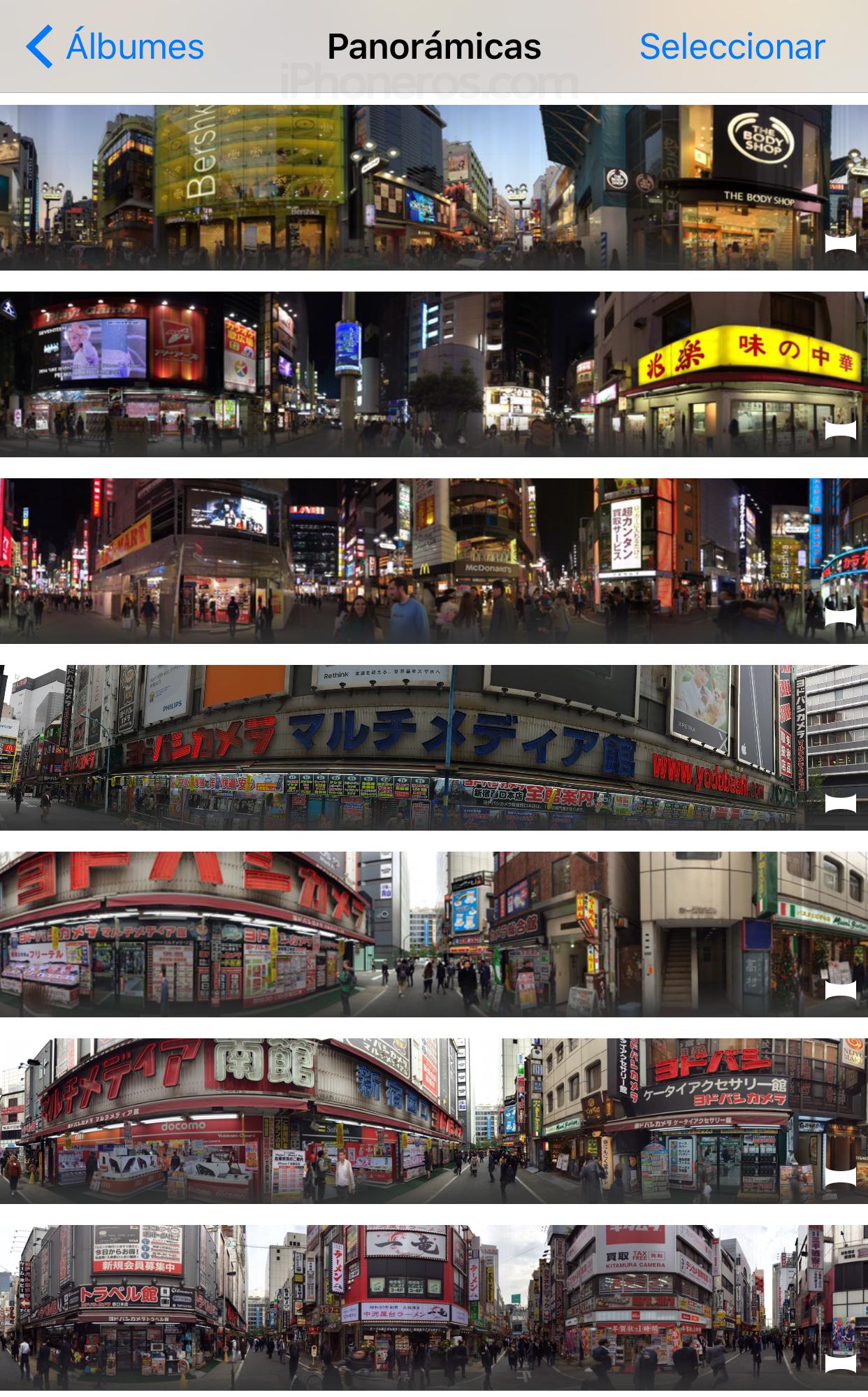 Muchas fotos panorámicas
